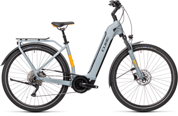Cube Touring Hybrid Pro 500 grey´n´orange 2021 Easy Entry