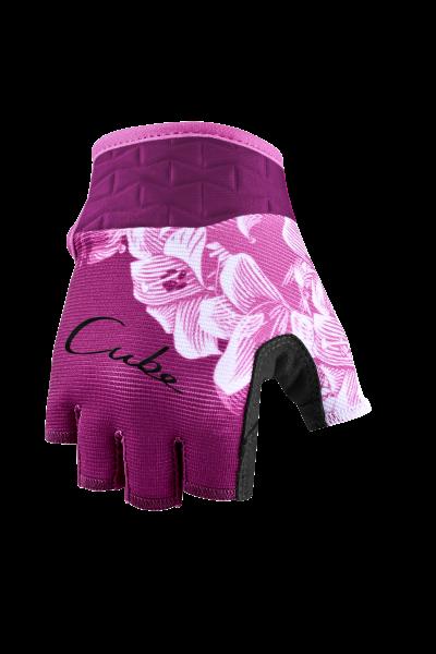 CUBE Handschuhe Performance Junior kurzfinger pink