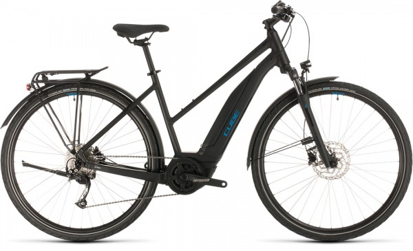 Cube Touring Hybrid ONE 500 black´n´blue 2020 Trapeze