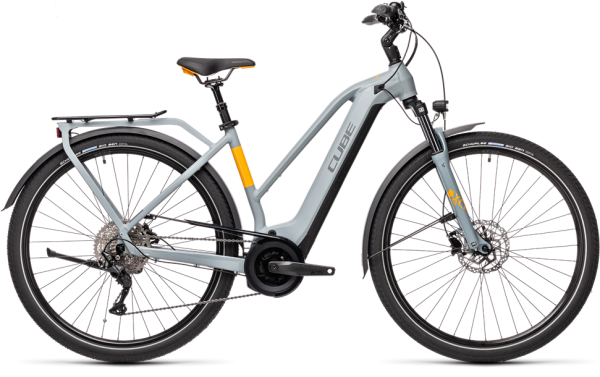 Cube Touring Hybrid Pro 500 grey´n´orange 2021 Trapeze