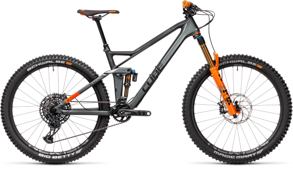 Cube Stereo 140 HPC TM flashgrey´n´orange 2021 / 27.5