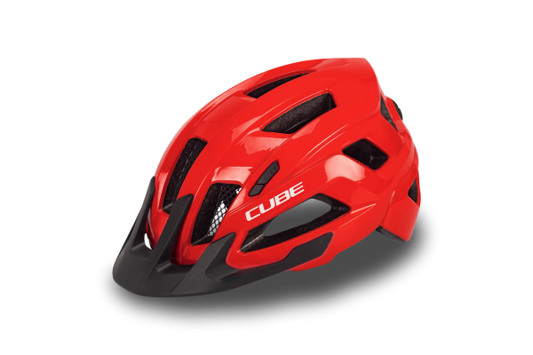 CUBE Helm STEEP glossy red