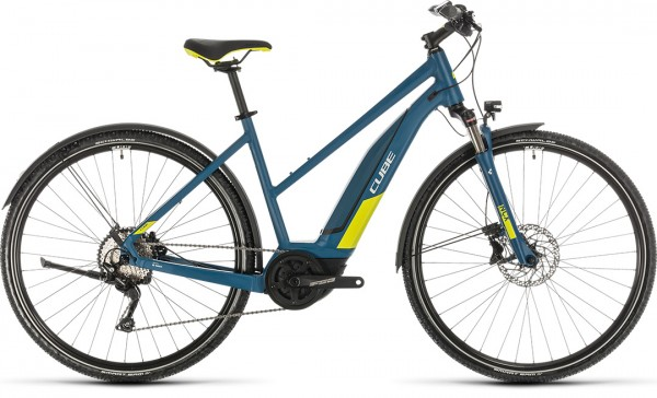 Cube Nature Hybrid EXC 500 Allroad blue´n´lime 2020 Trapeze 50 cm
